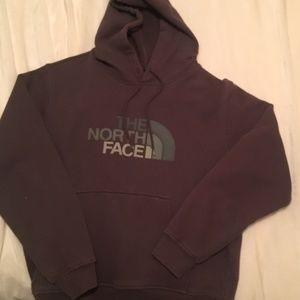 North Face fleece hoodie M